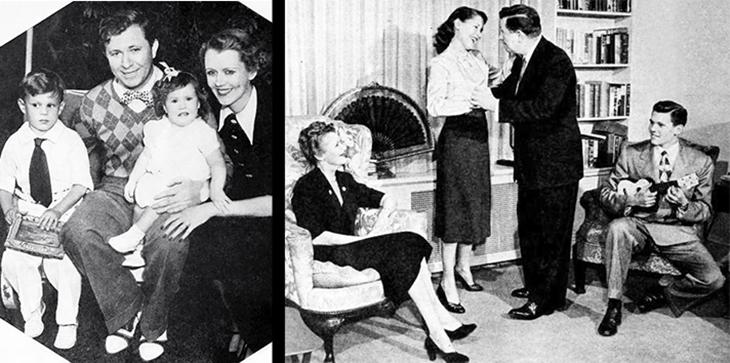stuart erwin, june collyer, american actors, actress, model, movie stars, celebrity couples, 1937, 1951, stuart erwin jr, judy erwin, famous family, children,