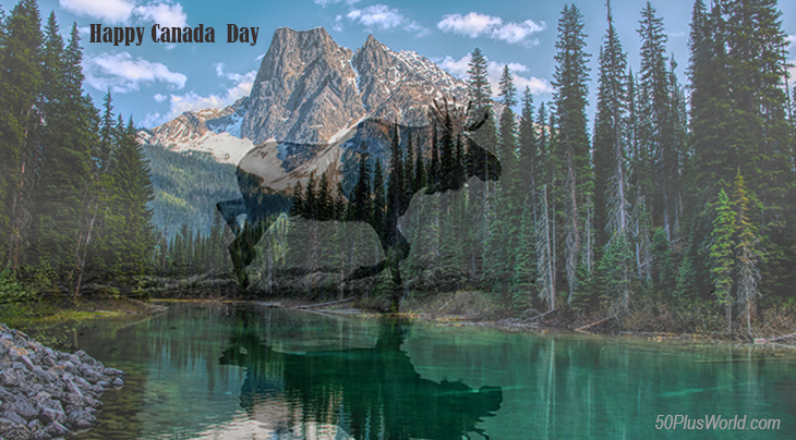 canada day, dominion day, canadian, provinces, nature, scenery, british columbia, shushwap lake, rocky mountains, forest, wild animals, moose