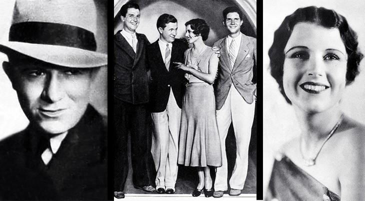 stuart erwin, june collyer, american actors, actress, model, movie stars, 1931, wedding, elopement, bud collyer, richard heermance, 1930s, celebrity couples