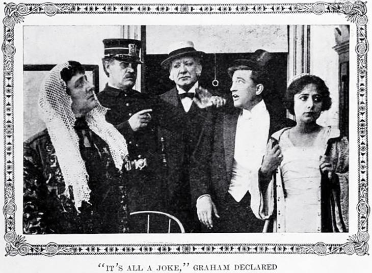 francis x bushman, american actors, bryant washburn, william walters, harry cashman, actress, dorothy phillips, essanay film studios, silent movies, movie stars, 1911, the burglarized burglar, comedy