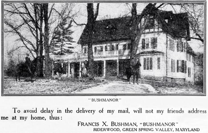 bushman, riderwood estate, maryland homes, 1917, francis x bushman, american actor, movie star, silent films, family house
