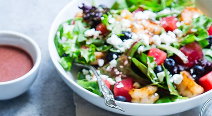 retirement, cooking, tips, healthy eating, food, recipes, quinoa salad, vegetables, leafy greens, fruits, cheese,