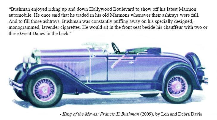 francis x bushman cars, american actor, silent films, movie star, 1928, automobiles, marmon, convertible, lavender, purple, vintage,