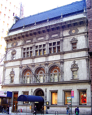 art students league school, historic building, 215 west 57th street, new york city, artists school,manhattan, built in 1892, american fine arts society, architect henry j hardenberg, french renaissance revival style,