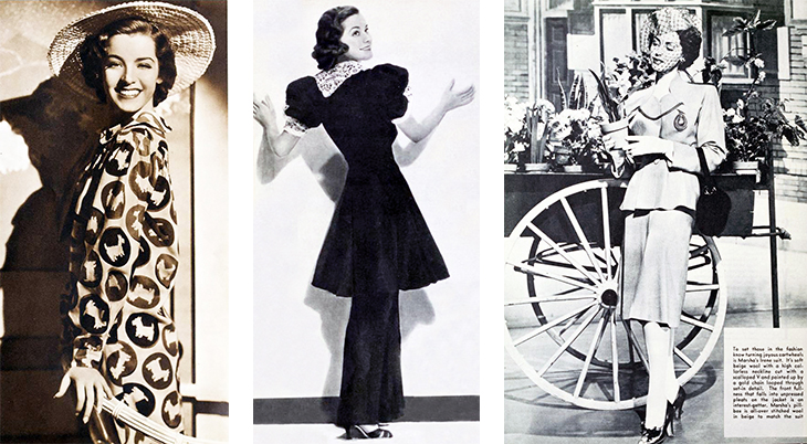 marsha hunt, american model, fashion, 1936, 1937, evening dress, gowns, suit, designer irene, 1943, actress, film star, movies, college holiday, gentle julia, lost angel, cry havoc, thousands cheer, pilot number 5, the human comedy,
