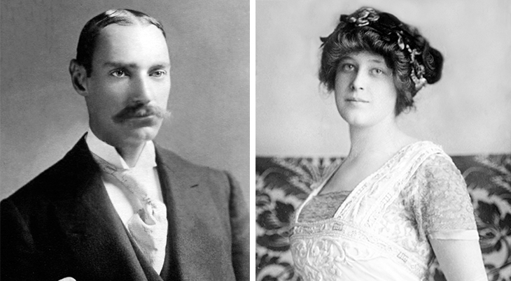 john jacob astor iv, jack astor, madeleine talmadge force astor, american millionaire, new york city, wealthy family, 1895, 1910, newlyweds, married, celebrities,